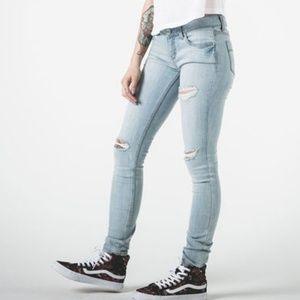 RSQ Ibiza light distressed skinny jeans EUC